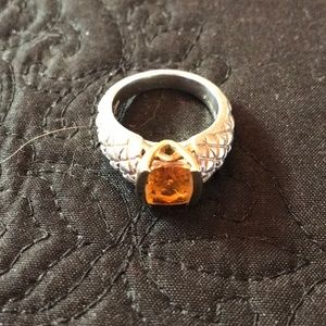 Lorenzo citrine sterling silver ring size 8